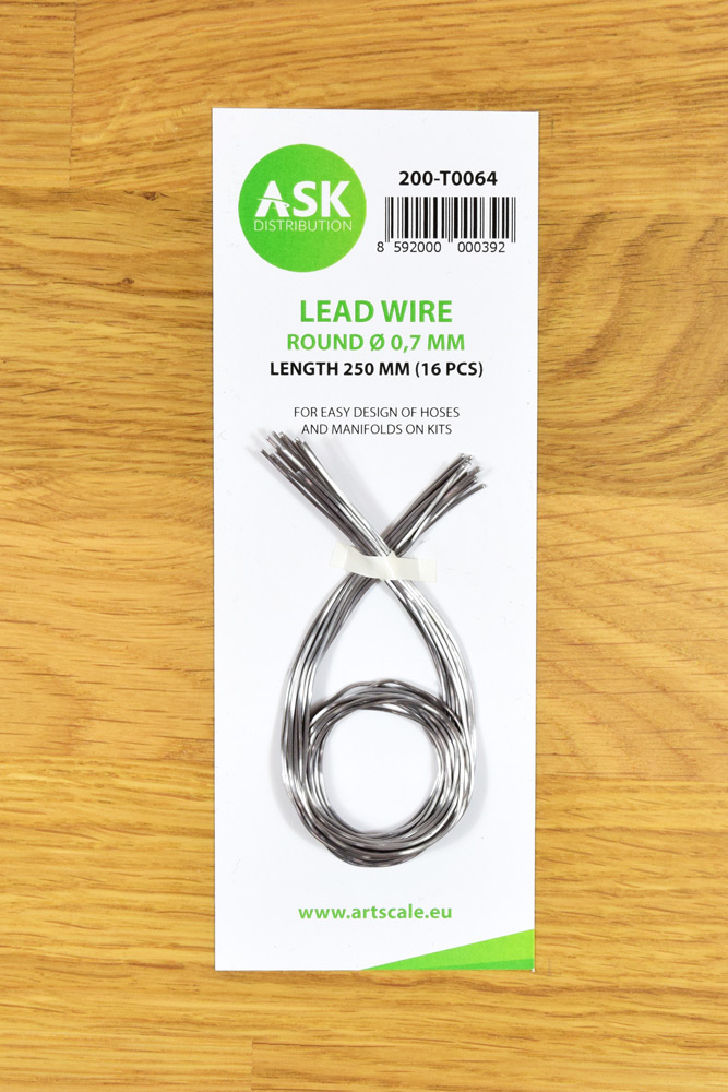 Lead Wire - Round Ø 0,7 mm x 250 mm (16 pcs)